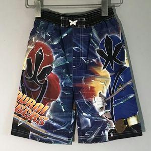 Boys Power Rangers Swim Trunks